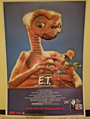 1988 E.t. The Extra Terrestrial Vhs Pepsi 3D Sign Poster Video Store Display