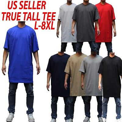 Big and Tall TEE Men Heavy Weight Plain S/S T-shirts Crew Neck Solid 8OZ Tall 3