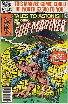 Marvel Comics Tales to Astonish No. 10 of 14 Feat. Sub-Mariner 1980 Very Good