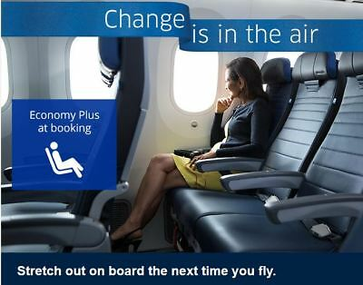 United Airline Economy Plus Seating Service