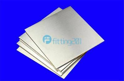 2pcs 0.5mm x 100mm x 100mm 304 Stainless Steel Fine Polished Plate Sheet