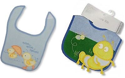 Pack of 12 Baby Boys Bibs Blue Bundle Gift - Wholesale Job Lot
