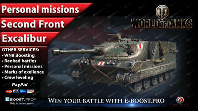 World of Tanks | NEW PERSONAL MISSIONS: SECOND FRONT - EXCALIBUR (WoT)