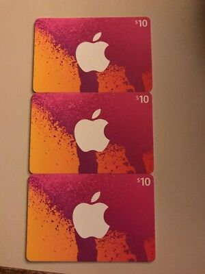 NEW ITUNES 3 $10 Prepaid Gift Card - No Email - No Digital Delivery $30  Total