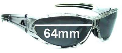 SFx Replacement Sunglass Lenses fits Adidas Evil Eye Pro S 127 - 64mm wide Pleas