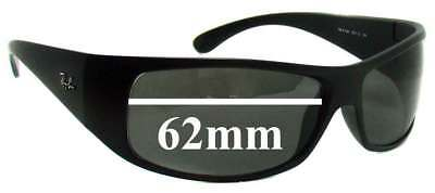 SFx Replacement Sunglass Lenses fits Ray Ban RB4108 - 62MM across
