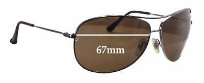 c967dee0a2 SFx Replacement Sunglass Lenses fits Ray Ban Aviators RB3293 - 67mm wide