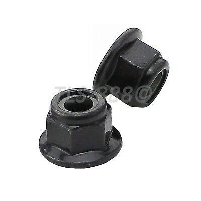 M3 M4 M5 M6 M8 M10 Flanged Nyloc Nuts Flange Nylon Insert Locking Nut Zinc Black