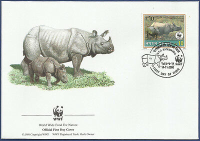 Nepal  Fdc First Day Cover Mnh 2000 World Wide Fund For Nature
