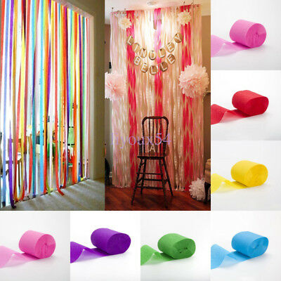 3X 81Ft Crepe Paper Streamer Roll Wedding Birthday Party Supplies Decorations