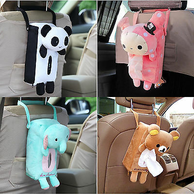 NEW Cute Home Car Rectangle Tissue Box Cover Holder Paper Box Bathroom Storage
