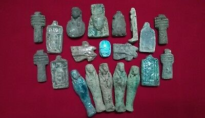 Ancient Egyptian rare 20 Amulets ( 1816 BC)