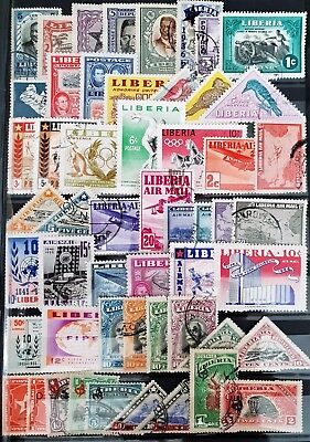 Liberia Mint and Used All Different Classic Stamps Collection Lot #6