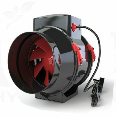Black Orchid Mixed-Flo Fan Extraction In-Line Intake Outtake Ducting/Tent/Filter