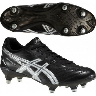 Asics Lethal St Mens Black Soft Ground Stud Grass Boots Cleats Uk 8 8.5 9 9.5