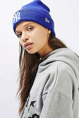 Topshop Blue Badge Beanie Hat by New Era - One Size BNWT