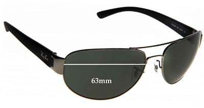 aa2ddb33a9 SFX REPLACEMENT SUNGLASS Lenses fits Ray Ban RB3183 Top Bar - 63mm ...