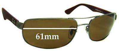 SFx Replacement Sunglass Lenses fits Ray Ban RB3445 - 61mm Wide