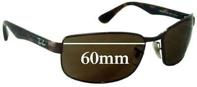 a6543f2ee7b SFX REPLACEMENT SUNGLASS Lenses fits Ray Ban RB8312 - 60mm wide ...