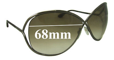 d2c97afb3f SFx Replacement Sunglass Lenses fits Tom Ford Miranda TF130 - 68mm Wide