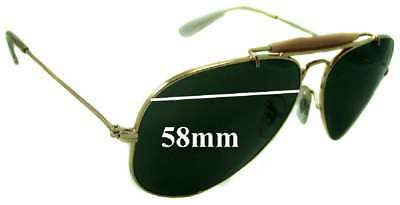a4a9312fb6 SFx Replacement Sunglass Lenses fits Ray Ban 3407 Aviator RB3407 - 58mm wide