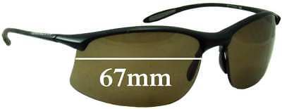 SFx Replacement Sunglass Lenses fits Serengeti Maestrale 7356 - 67mm Wide