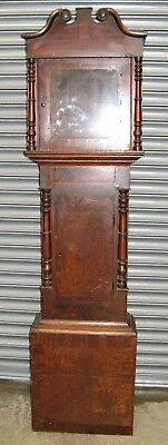 A Good Old Oak & Mahogany Case to suit 12 inch Longcase Movement. Circa 1840.