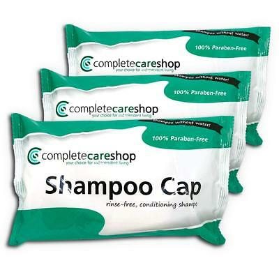 3x No Rinse Waterless Shampoo Caps Dry Shampoon Paraben Free Hair Care
