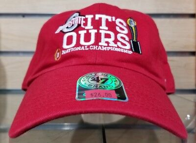 timeless design 65ae0 30634 Ohio State Buckeyes 2014 National Champions Red Adjustable Hat Nwt New With  Tags