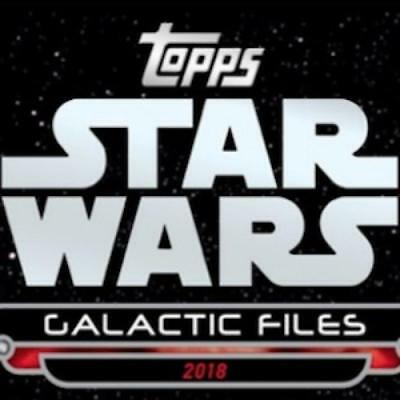 2018 Topps Star Wars Galactic Files Autograph Cards (All Colors) Pick From List