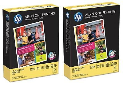 HP All-In-One Printing Paper, 22lb, 96 Bright, 8 1/2 x 11,White,500 Sheets/Ream.