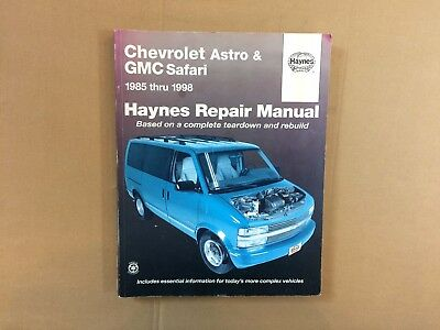 shop manual astro service safari repair chevrolet gmc haynes book rh picclick com 2012 GMC Safari Van 2005 GMC Safari Rear Bumper