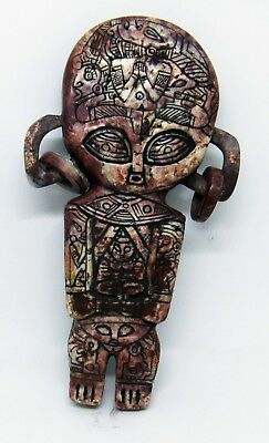 Ancient Pre-Columbian Ojuelos Jalisco Stone Metal Alien Artifact Atlant Statue!