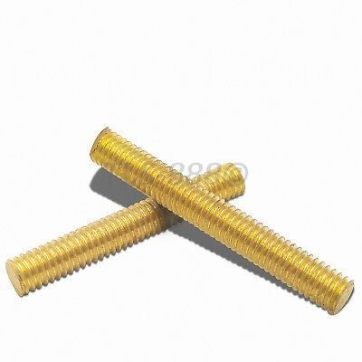 Solid Brass Fully Threaded Rod/Bar/Studding/Allthread M2.5,3,4,5,6,8,10,12,16,20
