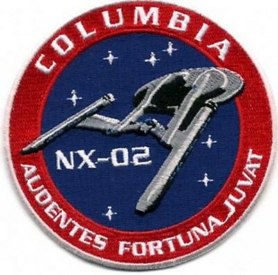 "Star Trek Columbia NX-02 Logo  3.5"" Uniform Patch- Mailed from USA (STPAT-ENT-7)"