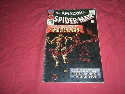Amazing Spider-man #28 marvel 1965 silver age 3.0/3.5 comic! 1ST MOLTEN MAN! WOW