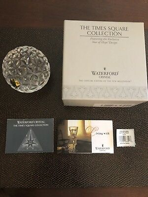 Waterford Crystal Paperweight Or Ball Times Square Star Of Hope, NIB, 2000