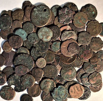 100 CLEAN GENUINE ROME COINS MOSTLY CONSTANTINE (1st CHRISTIAN EMPEROR) & FAMILY
