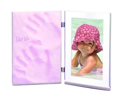 Baby picture frame clay impression memory Sculpey Keepsake Clay Frame Set, Pink