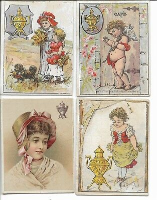 4 Vintage Victorian Trade Cards  Dilworth's Coffee