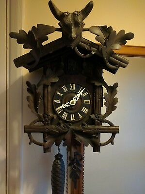 Antique black forest cuckoo clock circa 1880s