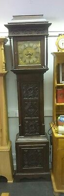 8 Day carved Oak Longcase Clock GWO