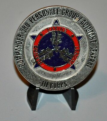 US Army III Corps 3rd Personnel Group Adjutant General AG Challenge Coin