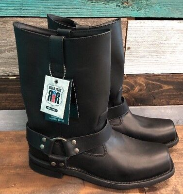 *NEW* Mens River Road Traditional Harness Boots Black Size 9.5