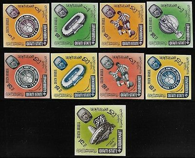 South Arabia Aden 1966 World Cup Set, Mexico Olympic SG #71-78, 79 IMPERF VF-NH