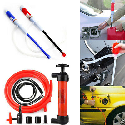 Car Vehicle Fuel Liquid Transfer Suction Pipe Pump Electric Manual Oil Extractor