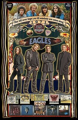 "The Eagles -11x17"" -Vivid Colors - Deep Blacks - Signed by Artist"