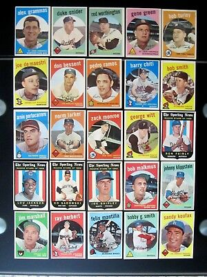 1959 Topps Baseball Card Lot Mid-High Grade  Finish Your Set (Buy One Or All)