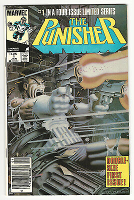 The Punisher #1 (Jan 1986, Marvel) Signed Mike Zeck!!! Vf/VF+ Glossy Great Copy