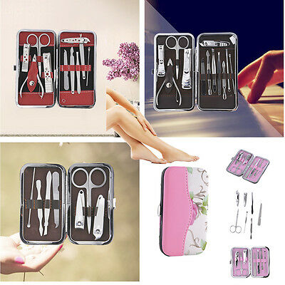 7/10/12pc Stainless Steel Manicure Set Pedicure Kit Travel Nail Art Clipper Tool